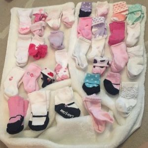 Other - 48 pairs of baby girl socks